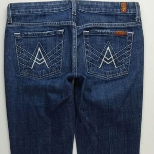 7 For All Mankind A Pocket Boot Cut Jeans 27 A248J